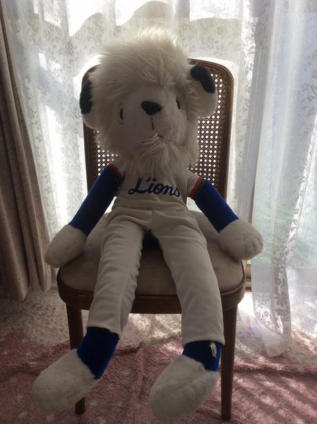 西武ライオンズの旧型レオマスコット人形 大 グッズの画像