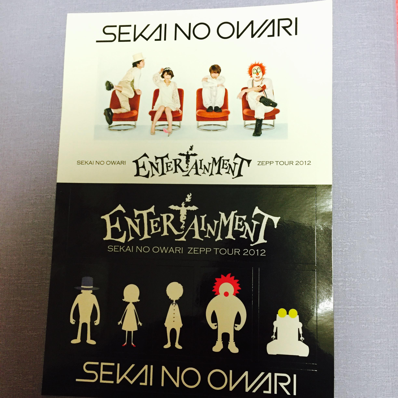 SEKAI NO OWARI / 世界の終わり ステッカーシート