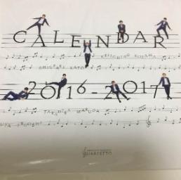 NEWS  四重奏魂  カレンダー コンサートグッズの画像