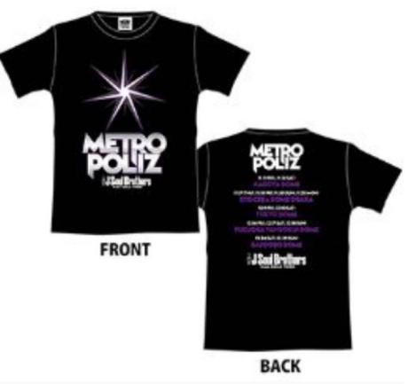 三代目JSB METROPOLIZ  Tシャツ