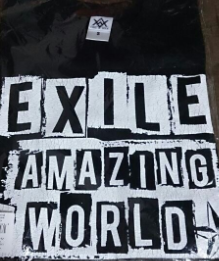 EXILE AMAZING WORLD ペイントTシャツ