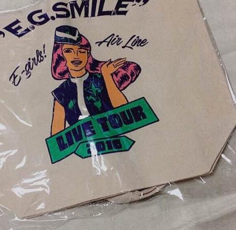 E-girls E.G.SMILE FINAL イラストトートバッグ