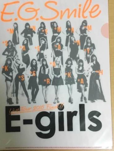 E-girls E.G.SMILE FINAL クリアファイル ライブグッズの画像