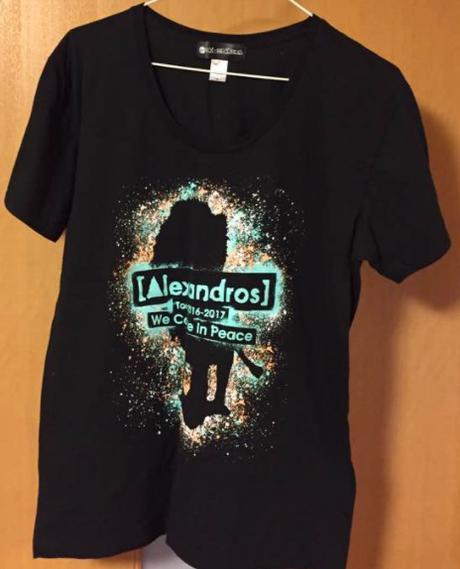 [Alexandros] ツアーTシャツ黒 ライブグッズの画像
