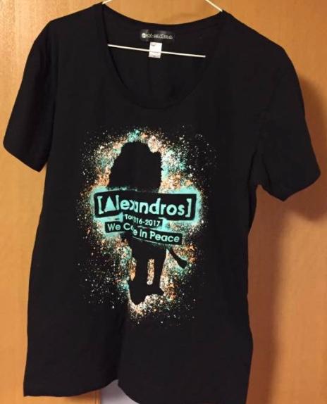 [Alexandros] ツアーTシャツ黒