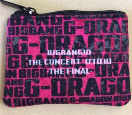 BIGBANG 0.TO.10 THE FINAL G-DRAGON ポーチ ライブグッズの画像