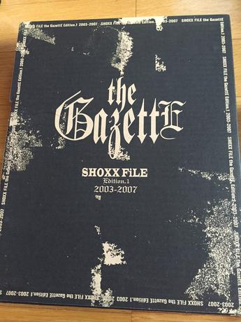 the GazettE  SHOXX FILE Edition 1 ライブグッズの画像