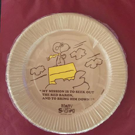 スヌーピー フライングエース 紙皿 10枚入 グッズの画像