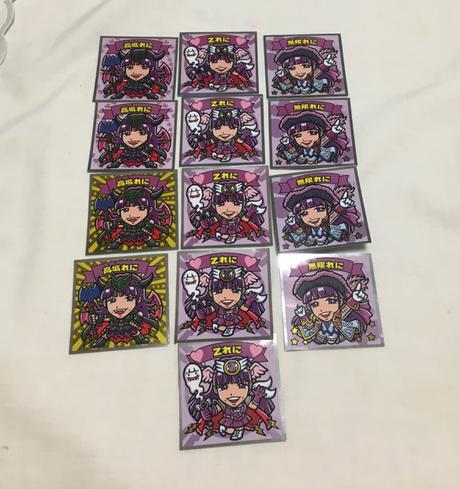 ビックリマンチョコシール(紫) ライブグッズの画像