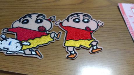 クレヨンしんちゃんワッペン グッズの画像