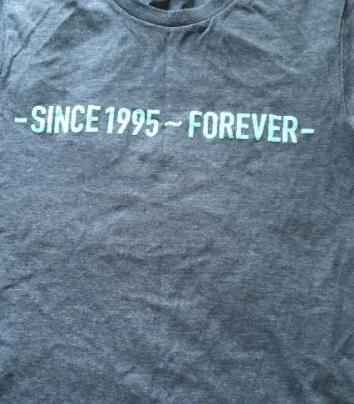 V6 -SINCE1995~FOREVER Tシャツ コンサートグッズの画像