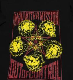 マンウィズ アウトオブコントロールツアー Tシャツ ライブグッズの画像
