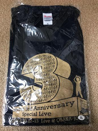 NMB48 3周年記念コンサート 大阪城ホール Tシャツ XL ライブグッズの画像