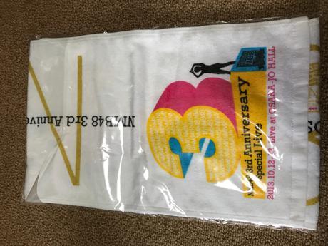 NMB48 3周年記念コンサート 大阪城ホール タオル ライブグッズの画像
