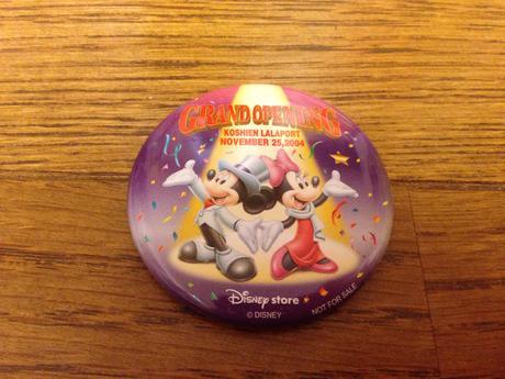 非売品缶バッチ ららぽーと甲子園オープン ディズニーグッズの画像