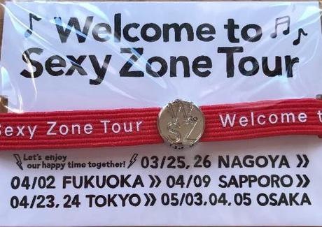 Welcone to Sexy Zone tour ヘアゴム(赤)