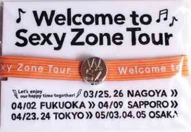 Welcone to Sexy Zone tour ヘアゴム(橙)