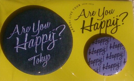 Are you happy 東京限定バッチ