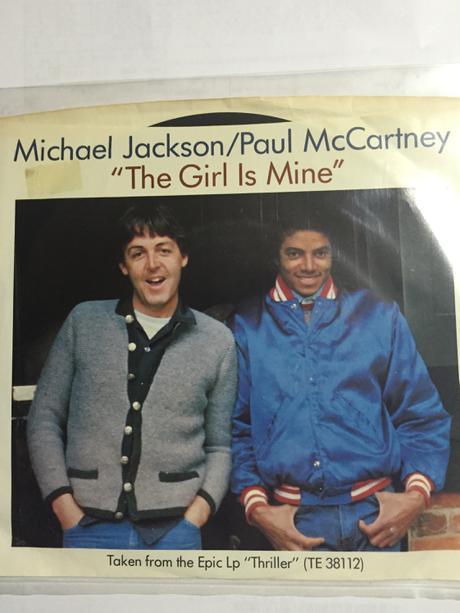 マイケルジャクソン &ポールマッカートニー ガールインマインド♪ 非売品♪未使用 ライブグッズの画像