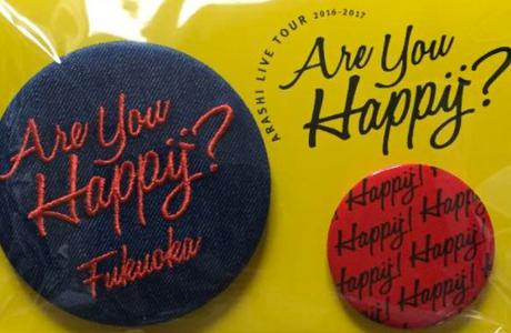 嵐 Are you Happy? 福岡限定 バッジ コンサートグッズの画像