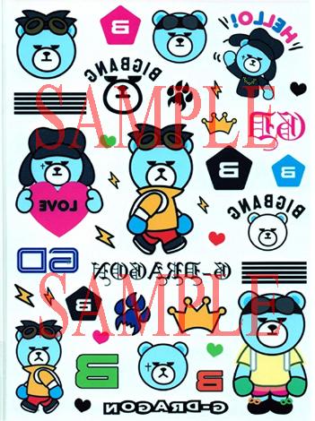BIGBANG タトゥーシール3送料無料 ライブグッズの画像