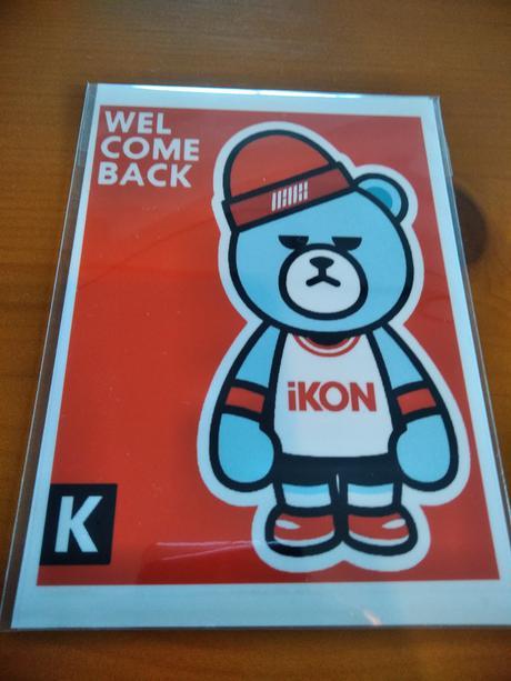 IKON WELCOME BACKステッカー送料無料 ライブグッズの画像