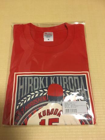 黒田博樹 カープ引退記念記念TシャツMサイズ 赤 広島東洋カープ公認グッズ グッズの画像