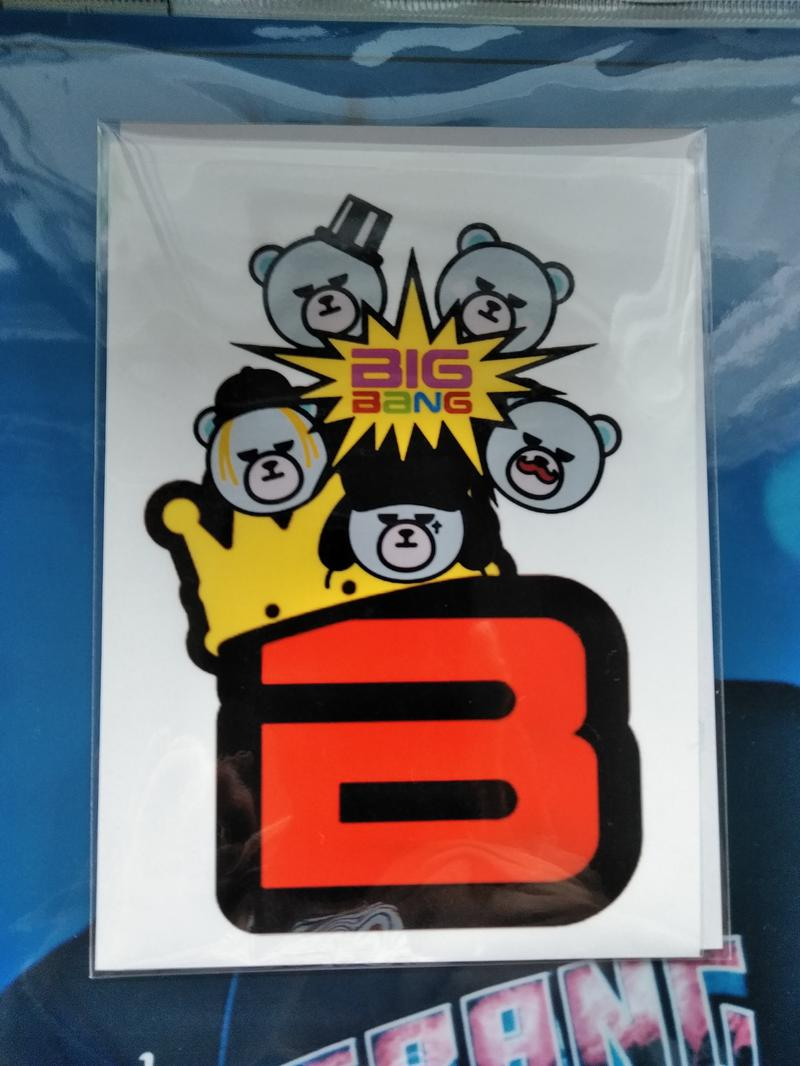 BIGBANG KRUNKステッカーB送料無料 ライブグッズの画像