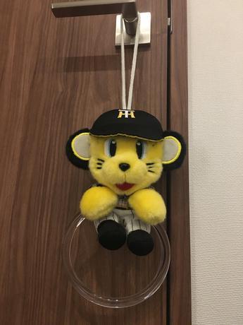 レア 新品 未使用 阪神 タイガース トラッキー タオル掛け グッズの画像