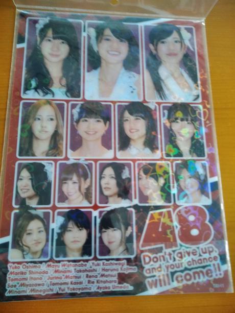 AKB48ホログラム下敷き新品送料無料 ライブ・総選挙グッズの画像