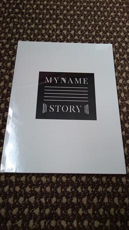 MYNAME写真集「STORY」 ライブグッズの画像
