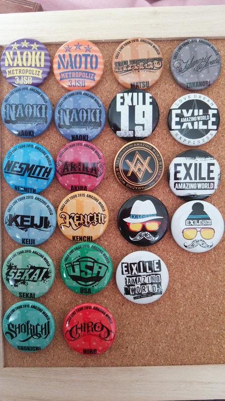 EXILE缶バッジ ライブグッズの画像
