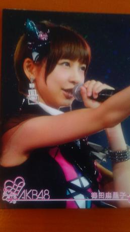 AKB48篠田まり子東京ドームカードB送料無料 ライブ・総選挙グッズの画像