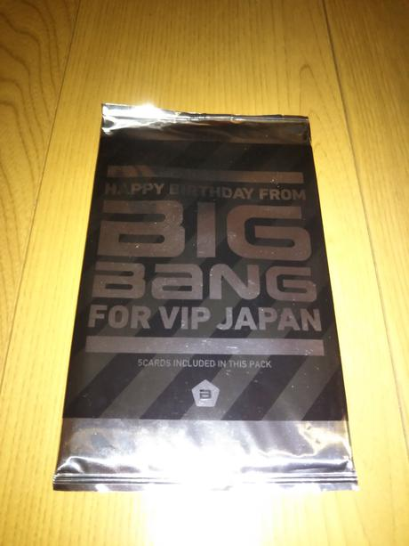 BIG BANG バースデーカード ライブグッズの画像