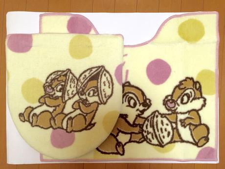 チップとデール 温水便座用2点セット 新品 ディズニーグッズの画像