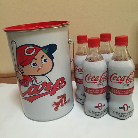 カープ コカコーラ コラボ ペール缶 グッズの画像