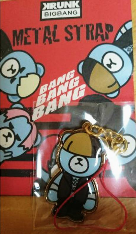 BIGBANGメタルストラップ テソンD-LITE ゴールド ランダム商品 ライブグッズの画像