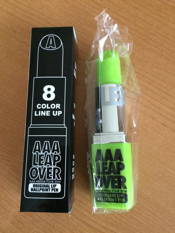 値下げしました!AAA LEAPOVER オリジナルリップボールペン ライブグッズの画像