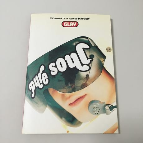 GLAY TOUR '98 pure soul パンフレット ライブグッズの画像