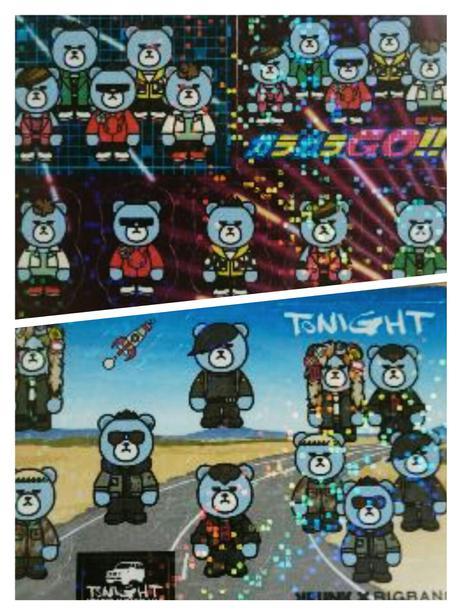 BIGBANG ウェハースチョコ シール 2枚セット ガラガラGO! Tonig ライブグッズの画像