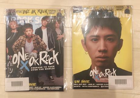 「Rock Sound(March 2017)」表紙 ver. A & B ライブグッズの画像