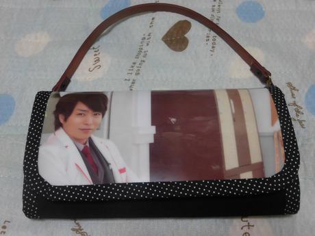 嵐 櫻井翔 ハンドメイド 財布 持ち手つき 防水素材 グッズ 新品 コンサートグッズの画像