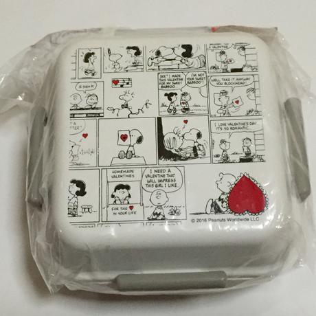 LOGOS×しまむら    スヌーピー  お弁当箱 白 グッズの画像