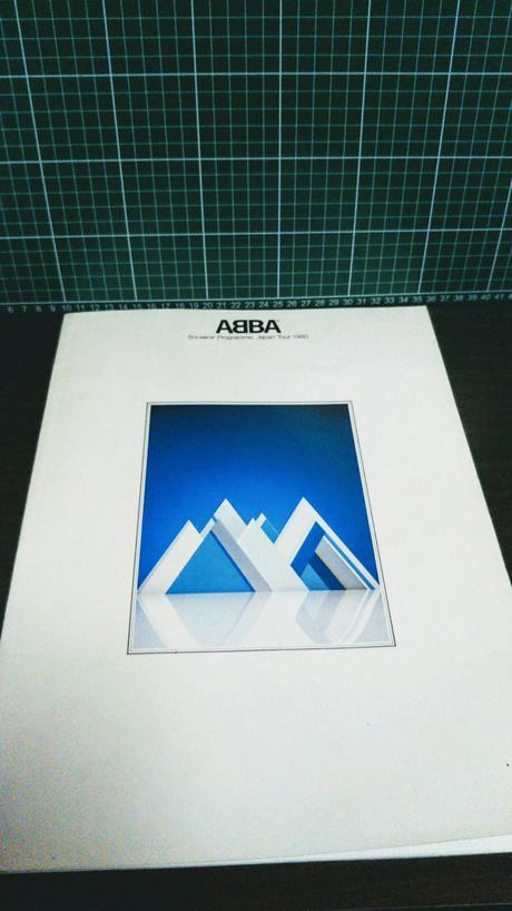 アバ【ABBA】1980年日本公演ツアーパンフレット ライブグッズの画像