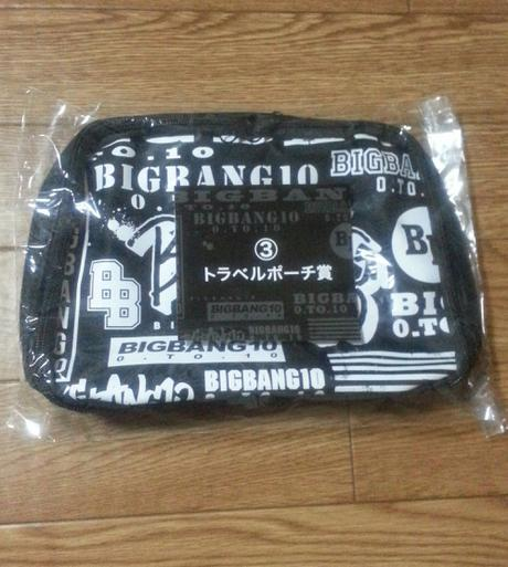 トラベルポーチ BIGBANGくじ ライブグッズの画像
