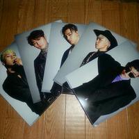 クリアファイル 5枚セット BIGBANGくじ ライブグッズの画像