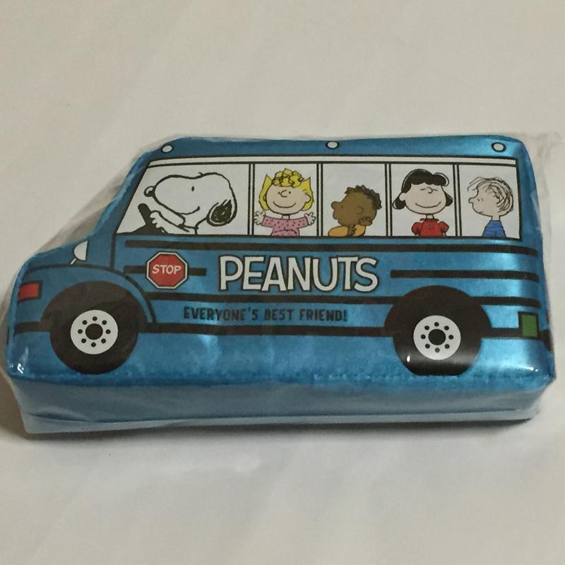 スヌーピー バス ペンケース 青 グッズの画像