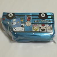 スヌーピー バス ペンケース 青 グッズの画像 2枚目