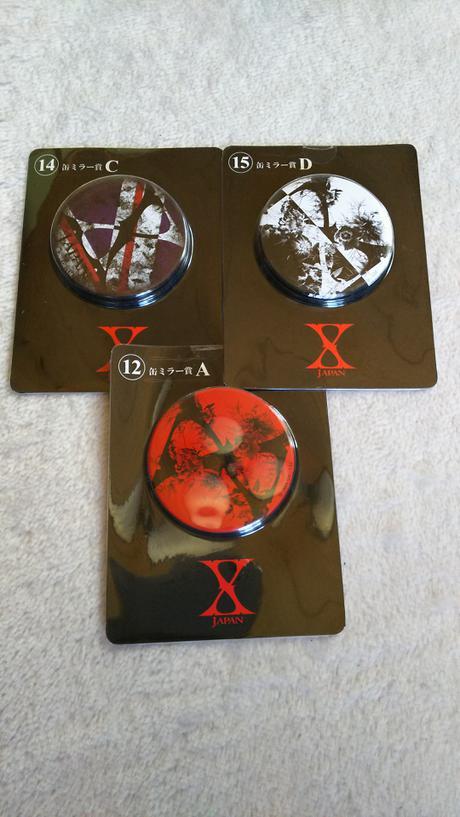 X JAPAN ローソンくじ 缶ミラー ライブグッズの画像