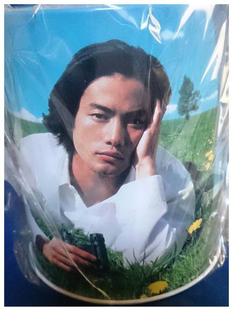 竹野内豊 ペン立て 缶 JAL ノベルティ グッズの画像